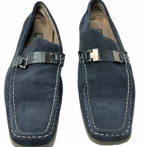 Stacy Adams Mens Leather Loafer Shoes Blue Size 11